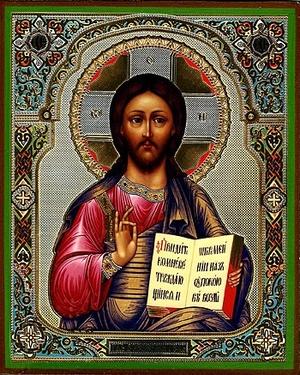 Religious Orthodox icon: Christ the Pantocrator - 13