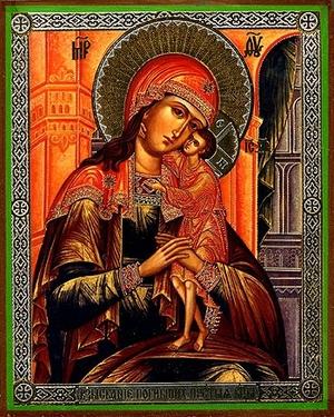 Religious Orthodox icon: Theotokos the Seeking of the Lost