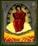 Religious Orthodox icon: Theotokos the Grower of the grains