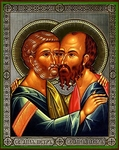 Religious Orthodox icon: Holy Apostles Peter and Paul