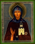 Religious Orthodox icon: Holy Princess Ephrosinija of Moscow