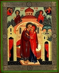 Religious Orthodox icon: The Conception of the Most Holy Theotokos