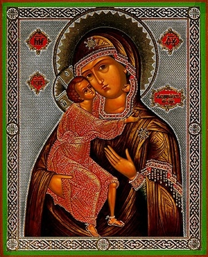 Religious Orthodox icon: Theotokos of Theodoroff - 3