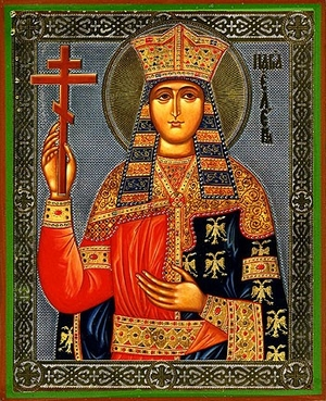 Religious Orthodox icon: Holy Queen Helen Equal-to-the-Apostles
