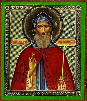 Religious Orthodox icon: Holy Venerable Makarius of Belevsk, the Wonderworker
