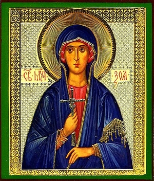 Religious Orthodox icon: Holy Venerable Zoe