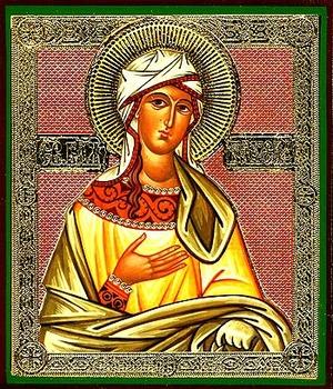 Religious Orthodox icon: Holy Blessed Taisia