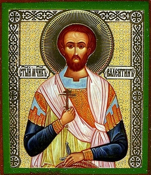 Religious Orthodox icon: Holy Martyr Valentine