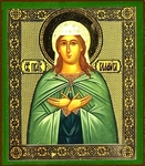 Religious Orthodox icon: Holy Righteous Glafira