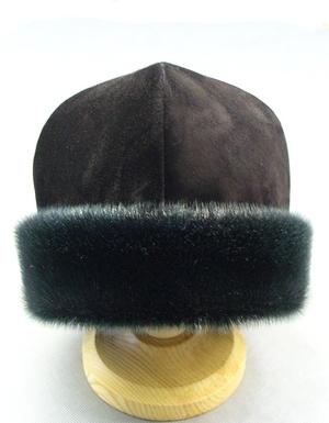 Men's winter skufia (calotte) with edging - 2