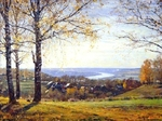 "Painting: V.I. Nesterenko ""Distances behind Oka river"""
