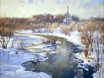 "Painting: V.I. Nesterenko ""Expectation of spring"""