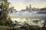 "Painting: V.I. Nesterenko ""Morning fog"""