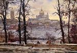 """Painting: V.I. Nesterenko """"Pochaevskaya lavra"""""""