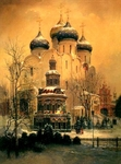 """Reproduction: """"A view of the Trinity-Sergius lavra"""""""