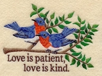 Love Is Patient Bluebirds