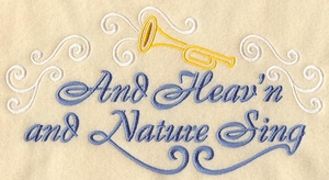 And Heav'n and Nature Sing - Horizontal