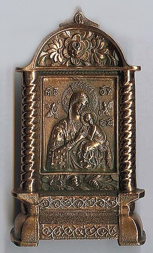 Table candlestands Theotokos icon-case - 2