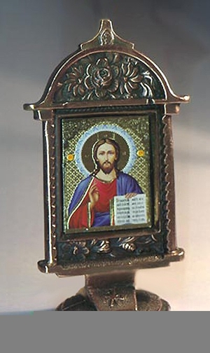 Table candle-stands Savior icon-case - 2