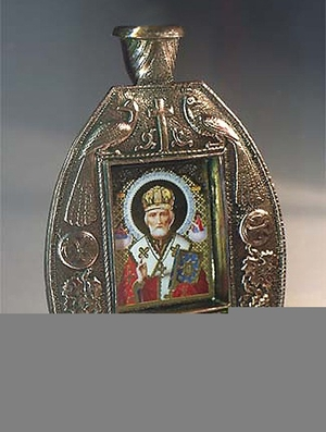 Table candle-stands St. Nicholas panel