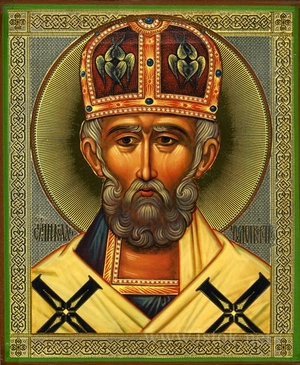 Religious Orthodox icon: Holy Hierarch Nicholas the Wonderworker - 7