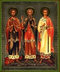 Religious Orthodox icon: Holy Martyrs Gourius, Samon and Abib