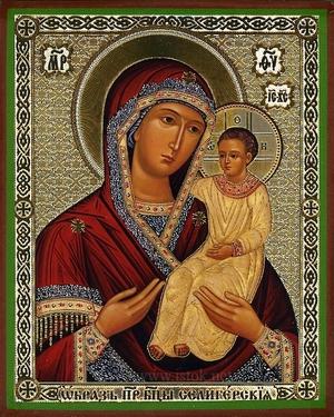 Religious Orthodox icon: Theotokos of Seliger
