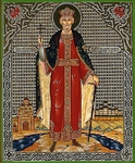Religious Orthodox icon: Holy Equal-to-the-Apostle Great Prince Vladimir