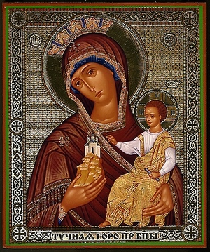 "Religious Orthodox icon: Theotokos ""Corpulent Mountain"""