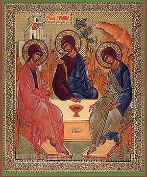 Religious Orthodox icon: Holy Trinity - 4