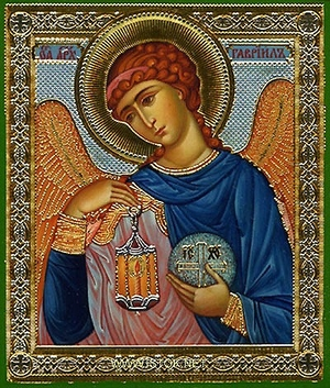 Religious Orthodox icon: Holy Archangel Gabriel