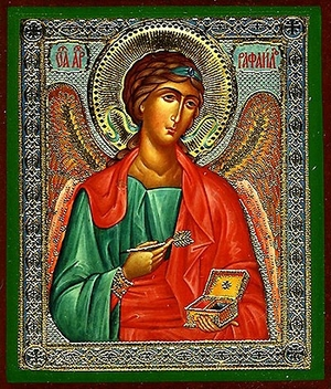Religious Orthodox icon: Holy Archangel Raphael
