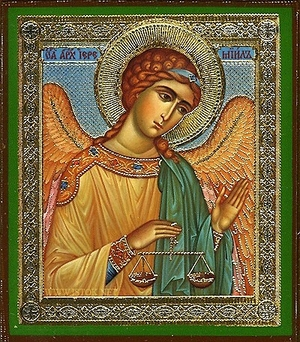 Religious Orthodox icon: Holy Archangel Jeremiel