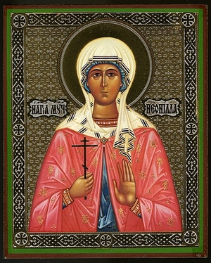 Religious Orthodox icon: Holy Martyr Neonilla