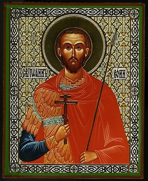Religious Orthodox icon: Holy Martyr John the Warrior