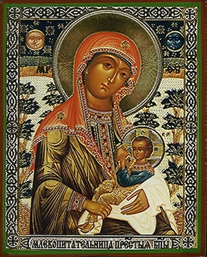 Religious Orthodox icon: Theotokos the Milk-Giver