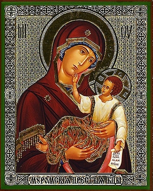 Religious Orthodox icon: Theotokos of Murom