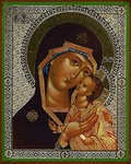 Religious Orthodox icon: Theotokos of Petrovsk