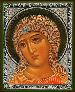 Religious Orthodox icon: Holy Guardian Angel - 5