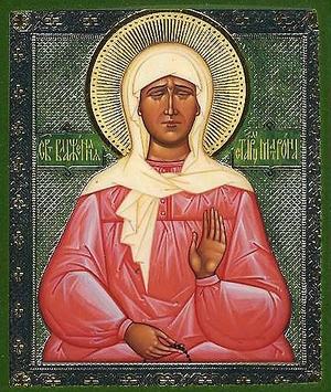 Religious Orthodox icon: Blessed Eldress Matrona