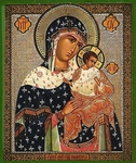 Religious Orthodox icon: Theotokos of Konev