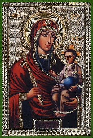 Religious Orthodox icon: Theotokos of Minsk