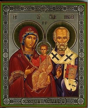 Religious Orthodox icon: Theotokos of Okovetsk