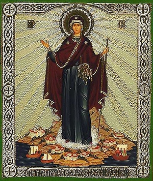Religious Orthodox icon: Theotokos the Abbess of Holy Mountain of Athos