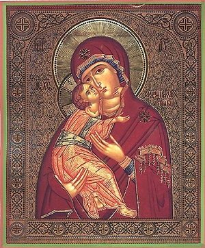 Religious Orthodox icon: Theotokos of Vladimir - 8