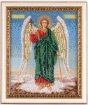 Icon: Holy Archangel Michael (embroidered with beads)