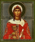 Religious Orthodox icon: Holy Great Martyr Barbara