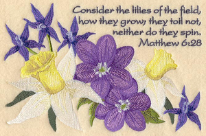 Lilies of the field (Mt. 6:28)