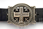 Men's belt - Cross with trefFiligree, filigree oil