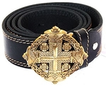Men's belt - Maltese cross